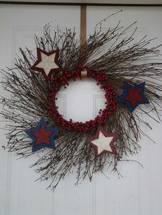My 4th of July wreath!