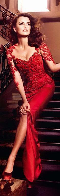 Hot red dress for party and night occasions