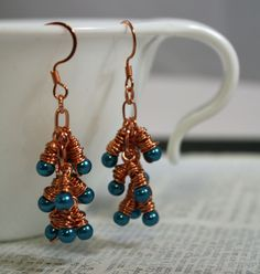 Electricity Earrings by CraftyHope, via Etsy.