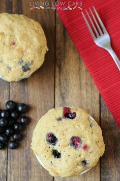 Blueberry Muffin in a Minute (Low Carb and Paleo Friendly) - Living Low Carb One Day At A Time Recipe - Key Ingredient Low Carb Sweets, Low Carb Desserts, Low Carb Recipes, Real Food Recipes, Cooking Recipes, Yummy Food, Brunch, Chocolate Fruits, Scones