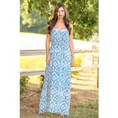 LOVE STITCH:These Are The Days Maxi Dress - Love the print!!