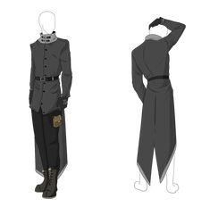 Custom Outfit Adopt - Grey Longcoat by ShadowInkAdopts on DeviantArt