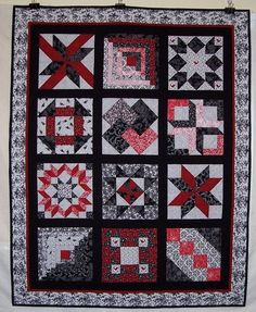 Red & black sampler quilt.  I love red and black quilts.  Peace, Robert from nancysfabrics.com