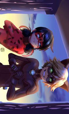 Miraculous Ladybug Wallpaper, Miraculous Ladybug Fan Art, Art Anime, Anime Kunst, Les Miraculous, Ladybug Und Cat Noir, Cat Noir And Ladybug Comics, Adrien Y Marinette, Meraculous Ladybug