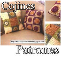 Delicadezas en crochet Gabriela: Cojines de motivos