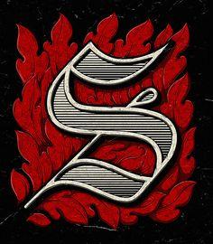 Gothic Capital Letter - S Graffiti Lettering Fonts, Typography Love, Typography Quotes, Typography Inspiration, Typography Letters, Graphic Design Typography, Lettering Design, Graphic Design Illustration, Alphabet Fonts