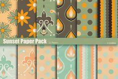 Sunset Paper Pack by naga-pree.deviantart.com on @deviantART