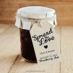 Spread The Love DIY Favor Tag Template Text by TheDIYStore on Etsy