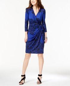 7bb02f5dbc6 I.N.C. Printed Faux-Wrap Dress