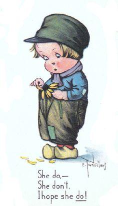 illustr.quenalbertini: Vintage Charles Twelvetrees Postcard
