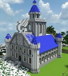 A really cool Minecraft creation Cool Minecraft Creations, Cool Minecraft Houses, Mansions, Cool Stuff, House Styles, Building, Gardening, Orange, Nice