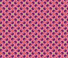 Owls Lilapink fabric by hamburgerliebe on Spoonflower - custom fabric