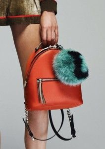 Michael michael kors fur pom pom key charm handbags for Fendi letter keychain