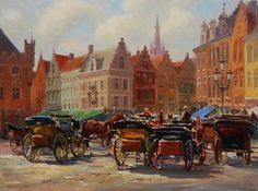 Ready to tour, Bruges,  the Baranovs