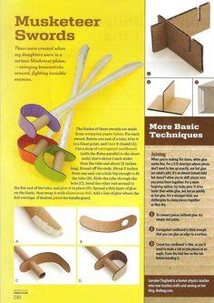 how to make a cardboard ninja sword