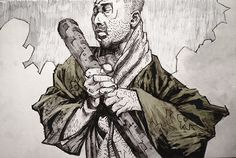 Artist: Tomas Overbai #Yellowmenace: Zatoichi - Asian Character Sketches (24 Images) http://yellowmenace8.blogspot.com/2015/06/art-tomas-overbai-asian-characters.html