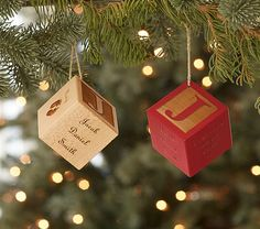 Baby's 1st Christmas - Baby Block Personalized Ornaments | Pottery Barn Kids
