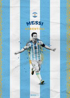 Copa America 2015 on Behance / Lio Messi / Argentina / La Albiceleste
