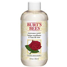 Burt's Bees Rosewater Toner, $11  A fan favorite from this trusty skincare line, Burt's Bees' face toner has been derived from a blend of rosewater, aloe vera, and other essential ingredients that hydrate skin and eliminate all the hard-to-wash excess oils and dirt.