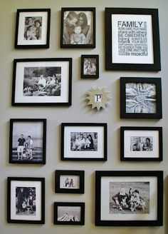 Family Photos Collage Wall