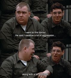 Animated gif from the movie Stripes. Funny Movies, Comedy Movies, Harold Ramis, Favorite Movie Quotes, Love You Forever, 20th Anniversary, Man Humor, How I Feel, Movies