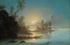 """Ferdinand Bellermann: """"Puesta de sol en el Orinoco"""", 1843"""