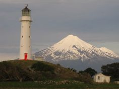 Cape Egmont Lighthouse and Mt Taranaki