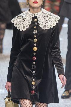 Dolce & Gabbana at Milan Fashion Week Fall 2017 - Details Runway Photos