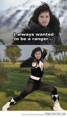 Não era esse tipo de ranger...