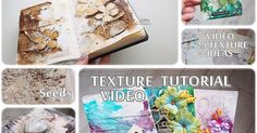 Marta lapkowska: all about texture 25 new ideas projects video tu. Frame Crafts, Glue Crafts, Paper Crafts, Texture Art, Texture Painting, Mixed Media Painting, Mixed Media Art, Hot Glue Art, Parchment Craft