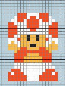 Toadstool from Super Mario Bros Hama Beads Mario, Perler Beads, Loom Beading, Beading Patterns, Cross Stich Patterns Free, Walt Disney, Lego Mosaic, Cross Stitch For Kids, Minecraft Pixel Art