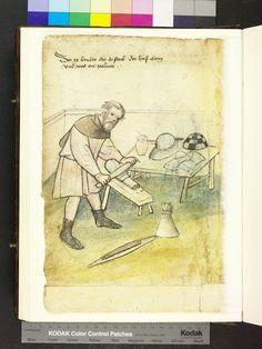 Georg, armor polisher or plattner, from Mendel Housebook, c. 1425