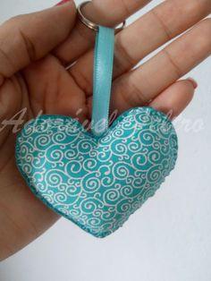 Chaveiro Coração em tecido