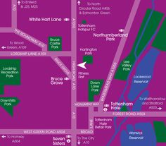 Our map of the local area showing great local amenities and a range of nearby parks.