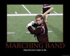 Marching Band Drum Majors by featherbrained-flute.deviantart.com