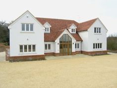 Oriley Shire Bespoke 07 Potton homes Home Building Design, Building A House, House Design, Rendered Houses, Dormer Bungalow, Self Build Houses, Bungalow Renovation, Home Exterior Makeover, Modern Farmhouse Exterior