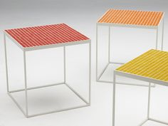 Description Tiled outdoor occasional table Table top in your own selection of tiles Metal frame with powder coated finish in black or white Suitable for indoor or outdoor use Made in Australia Dimensions Small: L W H required - L W H required - Tile Tables, Tile Patterns, Tiles, New Homes, Indoor, Outdoor Furniture, House Styles, Design, Home Decor