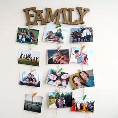 50 super diy crafts for the home wall picture frames cute ideas 34 « housemoes Polaroid Pictures Display, Display Family Photos, Polaroid Display, Picture Wall, Picture Frames, Diy Room Decor, Wall Decor, Home Crafts, Diy Crafts