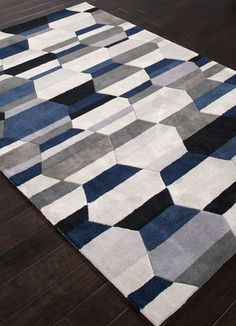 Hand-Tufted Durable Polyester Ivory/Blue Area Rug - Modern - Rugs - Jaipur Rugs Inc.