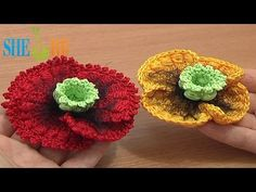 Цветы вязаные крючком Урок 68 часть 2 из 3 Вязание