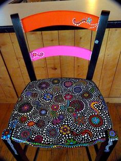 http://www.etsy.com/listing/70721126/hand-painted-funky-chairs-to-order?ref=cat1_gallery_24 #PaintedChair