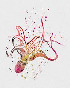 Octopus 2 Watercolor Art
