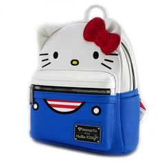 Loungefly x Hello Kitty Overalls Mini Faux Leather Backpack - Hello Sanrio  - Brands Hello Kitty bc83e5002b