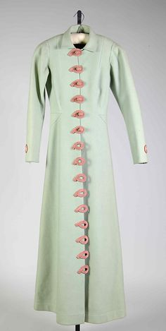 Coat, Evening.  Elsa Schiaparelli  (Italian, 1890–1973).  Design House: House of Schiaparelli (French, 1928–1954). Date: ca. 1937. Culture: French. Medium: Wool, silk.