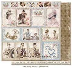 MAJA+DESIGN+-+VINTAGE+ROMANCE+-+EPHEMERA+CARDS  Double-sided+-+patterned+-+heavyweight+paper Size+12+x+12+-+acid+&+lignin+free.
