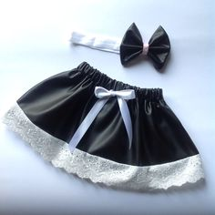 Leather Skirt & Matching Bow