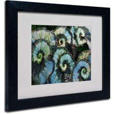 Trademark Fine Art Escargot Begonia Matted Framed Art by Kurt Shaffer, Black Frame, Size: 11 x 14