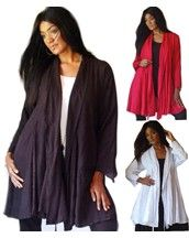 Stunning Jacquard Feature Duster Jacket