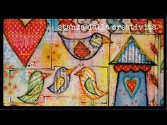 Christy Tomlinson Mixed Media Collage: She Art (tease to she art class) & Somerset Studios Project! - YouTube