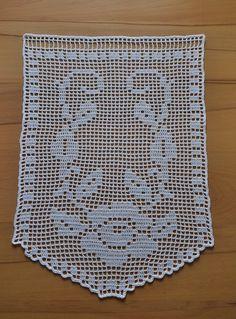 Easy Knitting, Knitting Stitches, Filet Crochet, Crochet Lace, Crochet Toddler Dress, Crochet Edging Patterns, Crochet Curtains, Viking Tattoo Design, Crochet Books